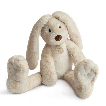 Fluffy lapin longues jambes ecru