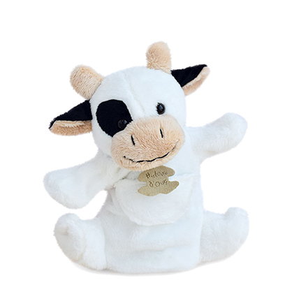 Marionnette vache blanche