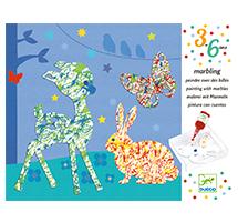 Pintura con canicas Desfile multicolor