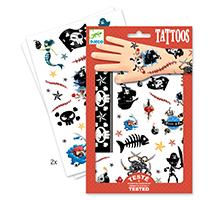 Piratas - tatuajes temporales
