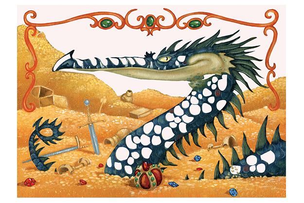 Cuadros pan de oro Los Dragones