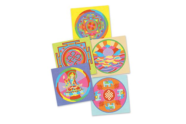 Arenas Mandalas tibetanas