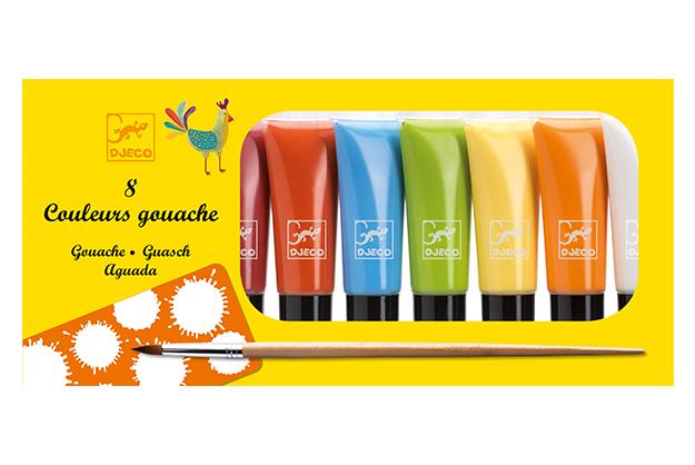 Colores 8 tubos de témpera clásico