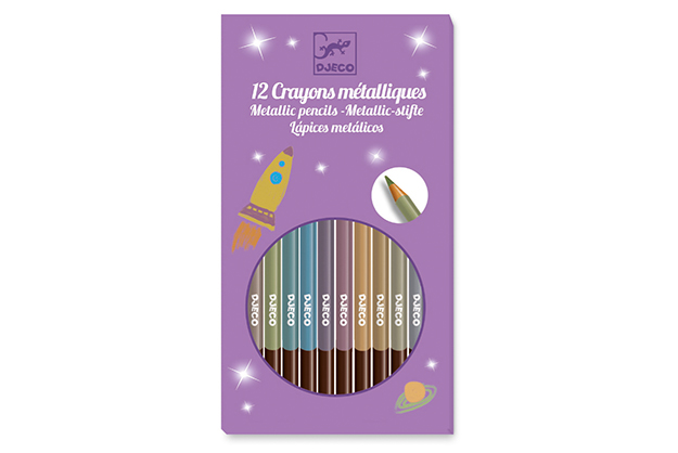 Colores 12 Lápices metálicos