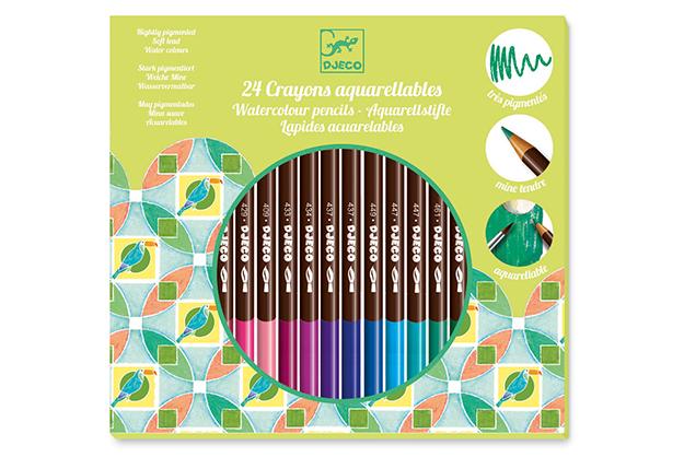 Colores 24 Lápices acuarelables