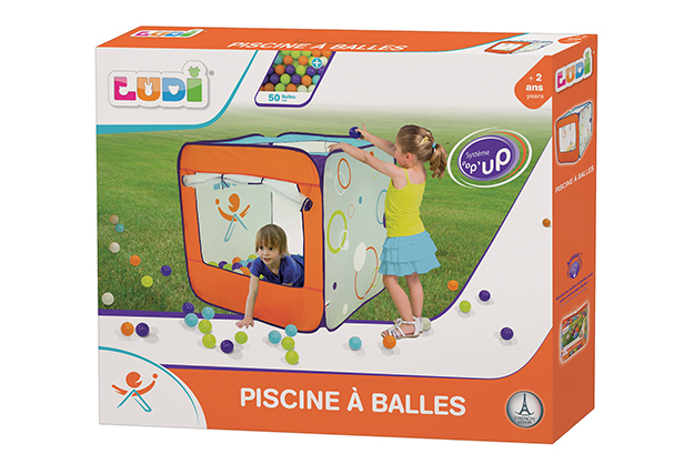Area de juego pop-up con 50 pelotas